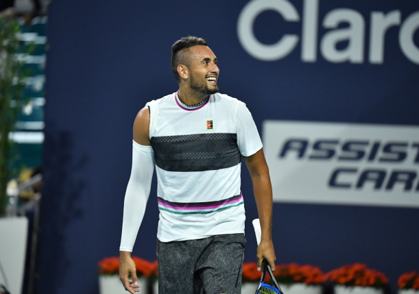 Kyrgios Clashes With Fan in Miami