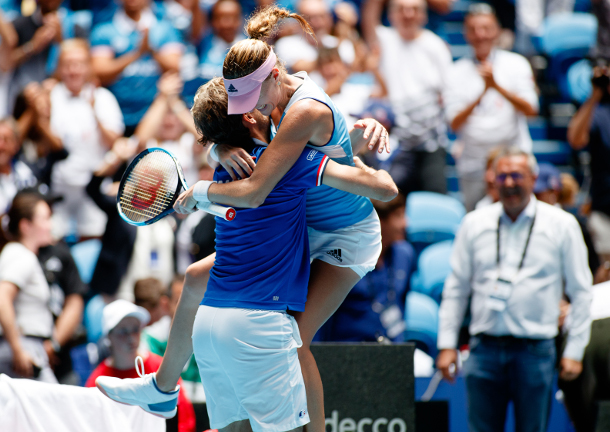 Mladenovic Carries France To Third Fed Cup Championship   - Tennis Now