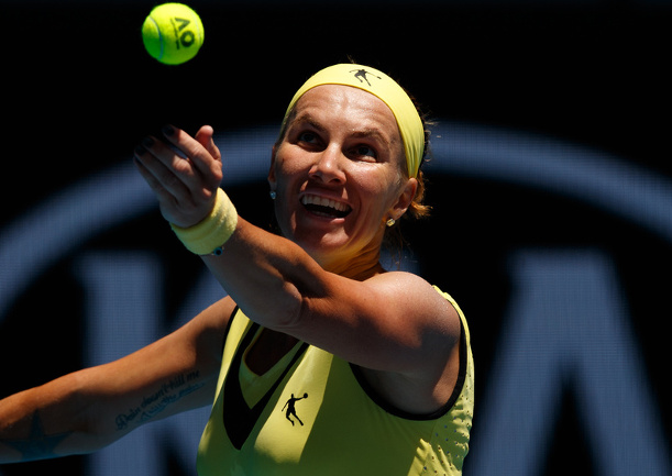 Qatar Queen Kuznetsova Beats Bencic Bursts Into Doha Semifinals