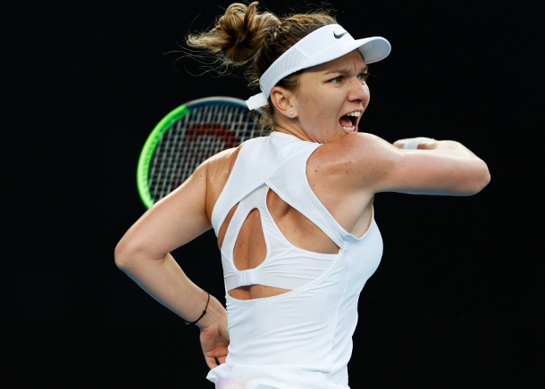 Halep Saves Match Point to Win Wild Dubai Battle with Jabeur