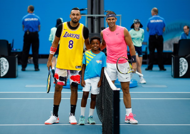 Nadal Edges Kyrgios Sets Up Ao Quarterfinal Vs Thiem Tennis Now