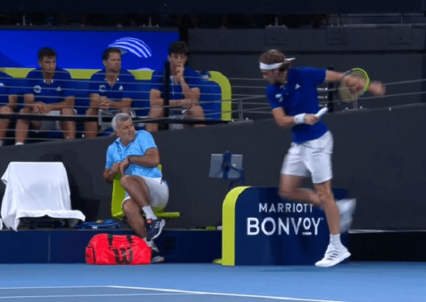 Son Stroke: Raging Tsitsipas Hits Dad With Racquet