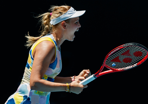Vekic Sweeps Sharapova in AO Opener
