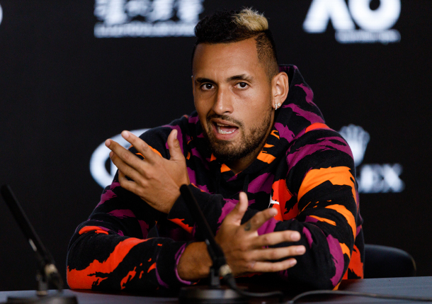 Kyrgios on Love-Hate Relationship and Tennis' Color Issue