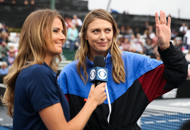 Sharapova Speaks in WTT All-Star Match on CBS Today