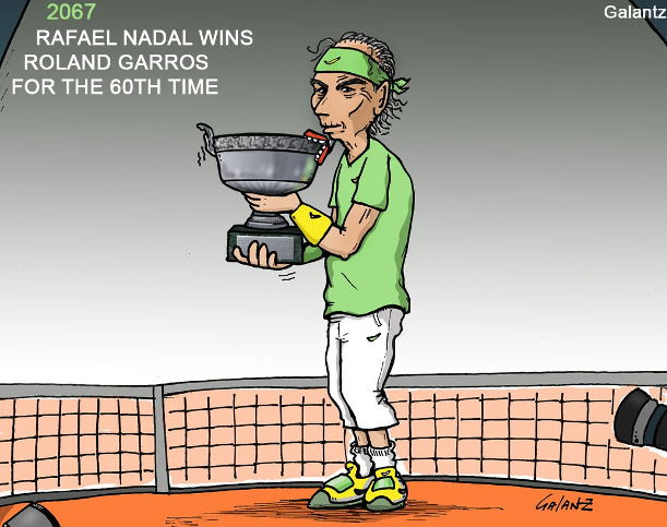 Courtoons: King of Clay Still Rules Roland Garros 2067