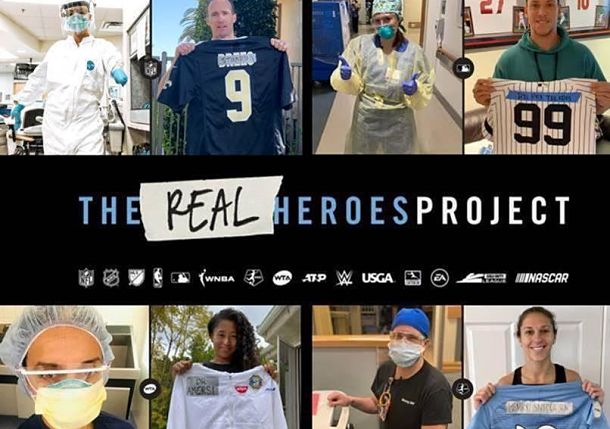 Tennis Stars Salute #TheRealHeroes