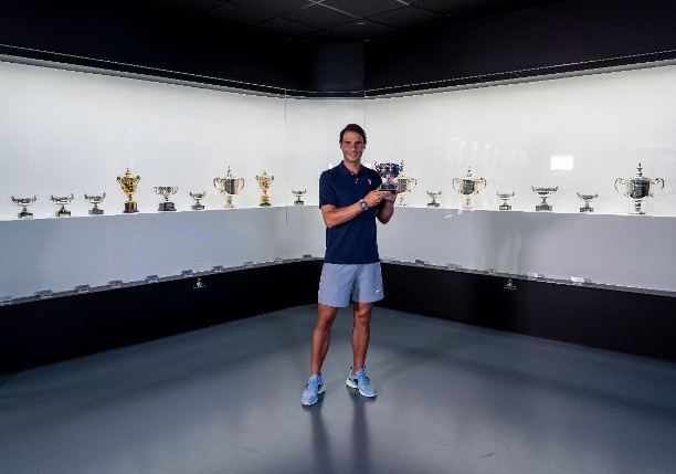 Nadal Places Trophy in Museum, Thanks Fans
