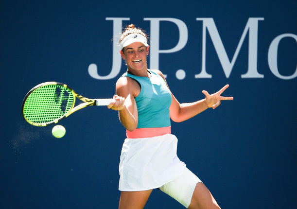 Brady Conquers Kerber, States Case as US Open Contender