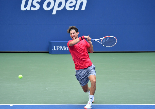 Thiem Tears Into Second US Open Quarterfinal