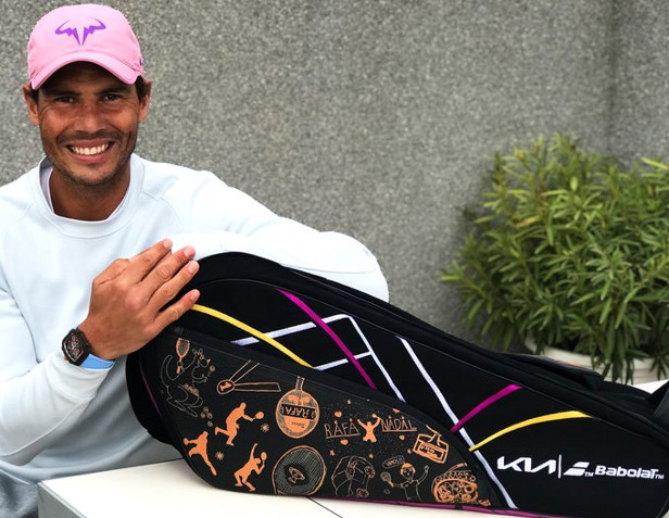 Nadal Unveils New Babolat Bag