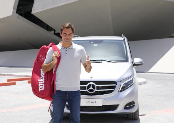 Mercedes Focuses on Federer