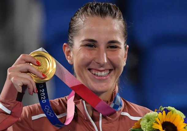 Gold Rush: Bencic Wins Olympic Singles Gold, Will Play for Doubles Gold