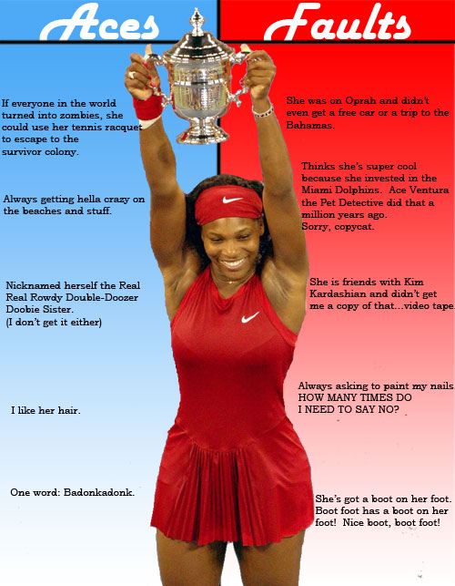 aces and faults serena williams
