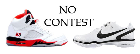 jordan v and nike lunar vapor