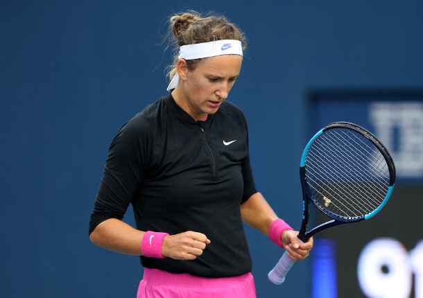 Azarenka Rides on, Defeating Mertens at Ostrava
